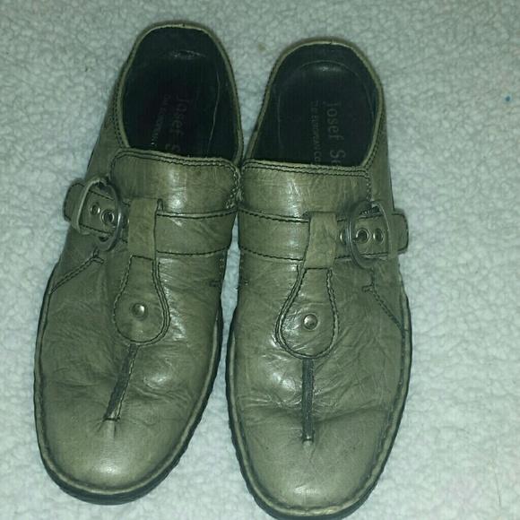 42e9917d Josef Seibel Shoes | Womens Gray Leather Buckle Slip On | Poshmark